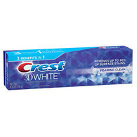 Crest 3D White Foaming Clean Whitening Toothpaste, 4.8 oz