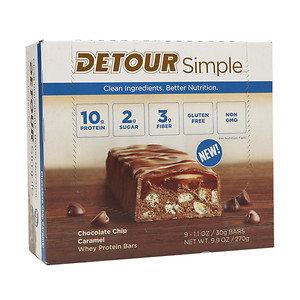 Detour Simple Bars, Chocolate Chip Caramel, 9 pk, 1.1 oz