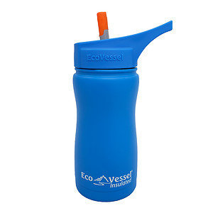 Eco Vessel Frost Triple Insulated Steel Bottle With Straw Top - Kids' - 13oz