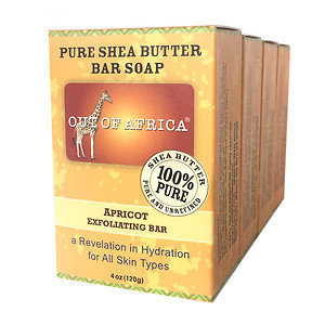 Out Of Africa Bar Soap, 4 pk, Apricot, 4 oz