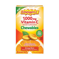 Emergen-C 1000 mg Vitamin C Chewables, Orange Blast
