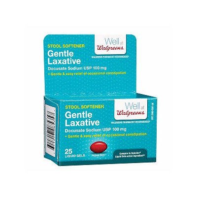 Walgreens Gentle Laxative Stool Softener Liquid Gels