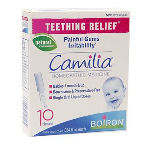 Boiron Camilia Teething Relief Homeopathic Medicine, 10 doses, .03 oz