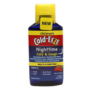 Cold-Eeze Children's Nighttime Cold & Cough Multi-Symptom Relief Liquid, Mixed Berry, 6 oz