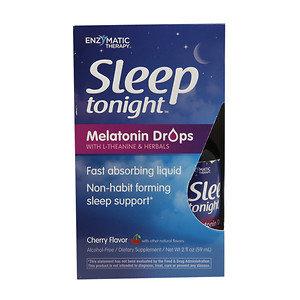 Enzymatic Therapy Inc. Enzymatic Therapy - Sleep Tonight Melatonin Drops Cherry - 2 oz.