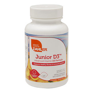 Zahler Junior D3, Great Tasting Chewable Vitamin D for Kids, 120 Chewable Tablets
