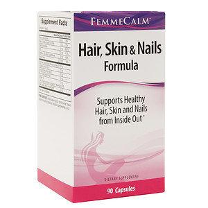 FemmeCalm Hair, Skin & Nails Formula, 90 ea