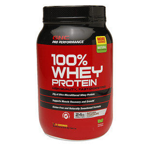 GNC Pro Performance 100% Whey Protein 24g, Natural Chocolate, 41.8 oz