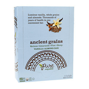 Pure Organic Pure Ancient Grains Bars, Vanilla Almond, 12 ea