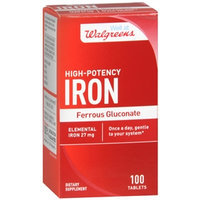 Walgreens High Potency Iron Ferrous Gluconate 27mg, Tablets