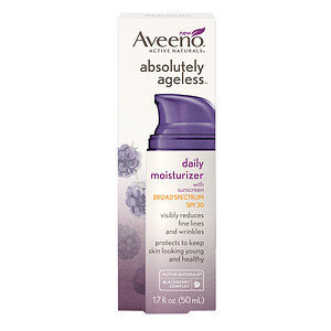 Aveeno Active Naturals Absolutely Ageless Daily Moisturizer, Blackberry, 1.7 oz