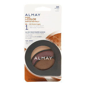 Almay Intense i-Color Everyday Neutrals All Day Wear Powder Shadow, Browns, .2 oz