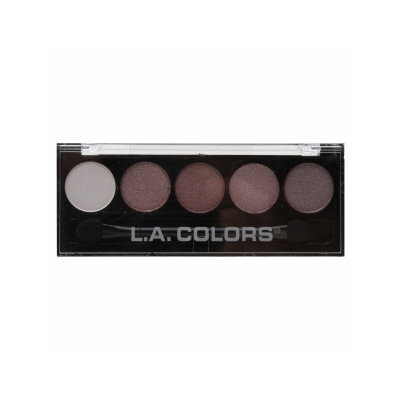 L.A. Colors 5 Color Metallic Eyeshadow, Wine and Roses, .26 oz