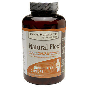 FoodScience of Vermont Natural Flex, Alternative to Glucosamine and Chondroitin Supplements, 180 Capsules