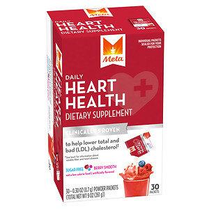 Meta Heart Health, Powder Packets, Berry Smooth, 30 pk, 9 oz