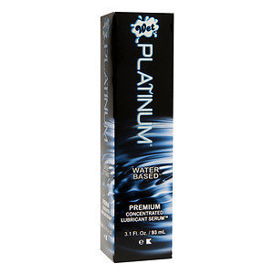 Wet Platinum Premium Concentrated Lubricant Serum, Water Based, 3 oz