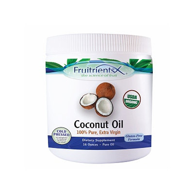 FruitrientsX - Coconut Oil 100 Pure Extra Virgin - 16 oz.