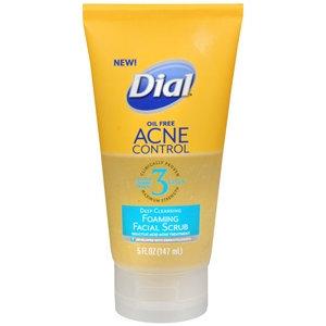 Dial Deep Cleansing Foaming Face Scrub, Oil Free Acne Control, 5 fl oz
