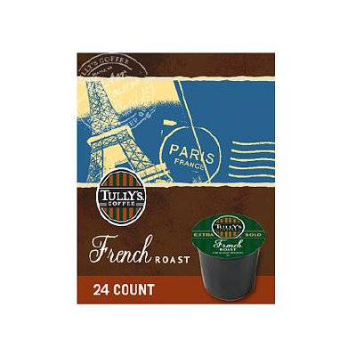 Tully's Coffee Tully's French Roast Coffee, K-cups, 24 ea