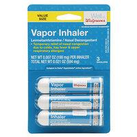 Walgreens Vapor Inhaler, 3 pk, .01 oz