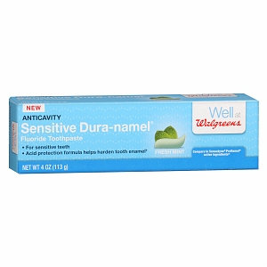 Walgreens Sensitive Dura-namel Anticavity Fluoride Toothpaste, Mint, 4 oz