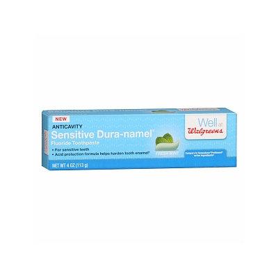 Walgreens Sensitive Dura-namel Anticavity Fluoride Toothpaste, Mint, 4 oz