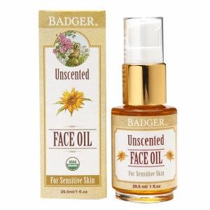 Badger Face Oil, Unscented, 1 fl oz
