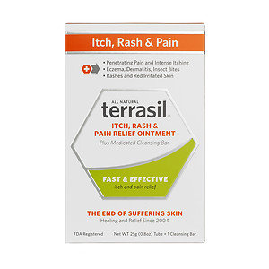 Terrasil Itch, Rash & Pain Relief Ointment Plus Medicated Cleansing Bar, 1 ea