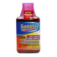 TheraFlu ExpressMax Flu, Cold & Sore Throat, Berry, 8.3 fl oz