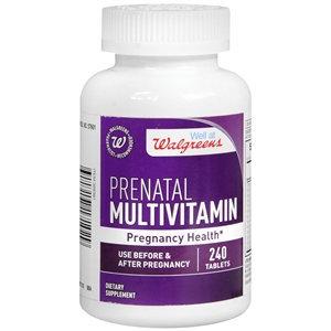Walgreens Prenatal Multivitamin Pregnancy Health, Tablets, 240 ea