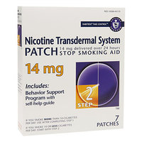 Habitrol Nicotine Transdermal System Stop Smoking Aid Patch, 14 mg, Step 2, 7 ea