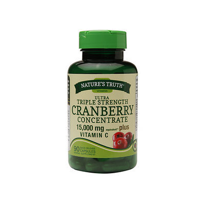 Nature's Truth Ultra Triple Strength Cranberry Concentrate 15,000mg Plus Vitamin C, 90 ea