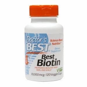 Doctor's Best Best Biotin 10,000 mcg, Veggie Capsules