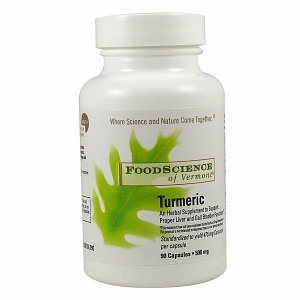 FoodScience of Vermont Turmeric, 500mg, Capsules, 60 ea