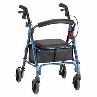 Nova MedicalProducts Health Care Hospital Daily Mobility Aids GetGO Petite Rolling Walker Blue