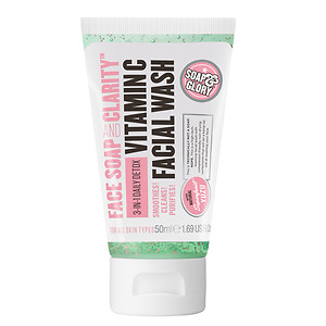 Soap & Glory Face Soap and Clarity 3-in-1 Daily Detox Vitamin C Facial Wash, Refreshing Chamomile & Mint, 1.69 oz