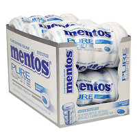 Mentos Gum Pure White Sugarfree Chewing Gum, Sweet Mint, 6 Pack, 300 ea