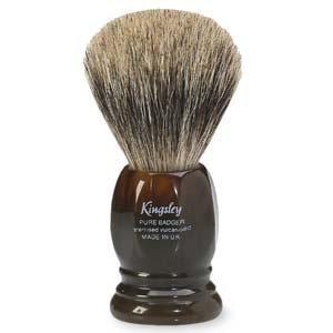 Kingsley For Men Pure Badger Shaving Brush, Tortoise