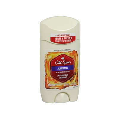 Old Spice Fresher Collection Invisible Solid Antiperspirant/Deodorant, Scent: Amber, 2.6 oz