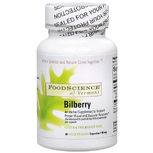FoodScience of Vermont Bilberry - 80 mg - 90 Capsules