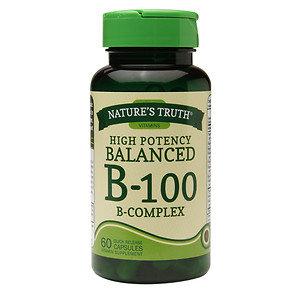 Nature's Truth High Potency Balanced B-100 B-Complex, 60 ea