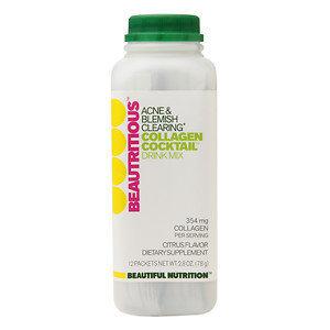 Beautiful Nutrition - Beautritous Collagen Cocktail Acne & Blemish Clearing Drink Mix Citrus Flavor - 12 Packets