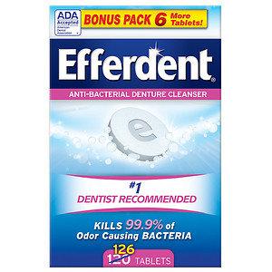 Efferdent Original Tablet Bonus 126ct, 126 ea