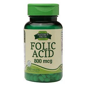 Nature's Truth Folic Acid 800mcg, 250 ea