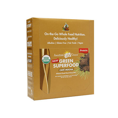 Amazing Grass Cafe Mocha Protein Bars, 12 pack