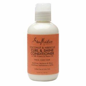 SheaMoisture Curl & Shine Conditioner, Coconut & Hibiscus, 3.2 fl oz