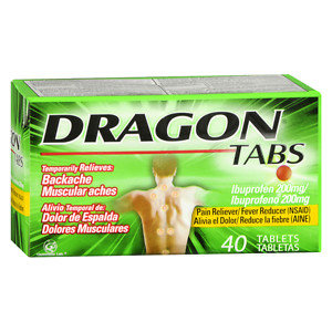 Dragon Ibuprofen Tablets 200mg, 40 ea