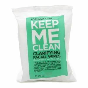 Formula 10.0.6 Keep Me Clean Clarifying Facial Wipes, Cucumber + Witch Hazel, 25 ea