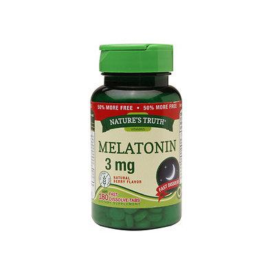 Nature's Truth Melatonin 3mg, Berry, 180 ea