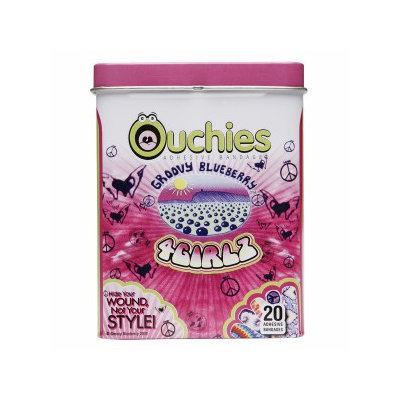 Ouchies Adhesive Bandages - Groovy Blueberry For Girls